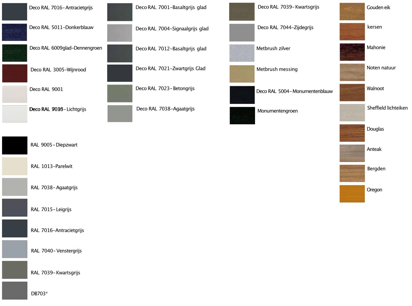 Kleuren Kunststof kozijnen